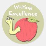 Pegatina de la excelencia de la escritura