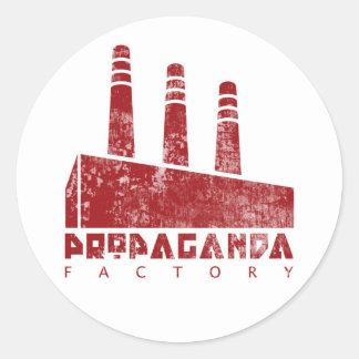 Pegatina de la fábrica de la propaganda