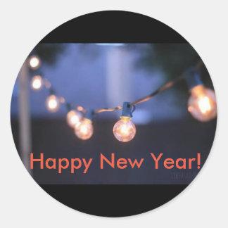 Pegatina de la Feliz Año Nuevo