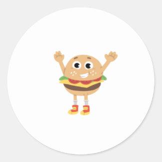 Pegatina de la hamburguesa de Angus