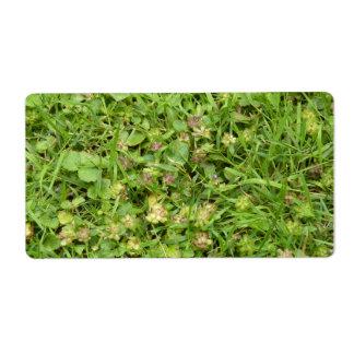 Pegatina de la hierba etiqueta de envío