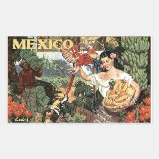 Pegatina de la imagen del vintage de México