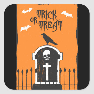 Pegatina de la lápida mortuoria de Halloween