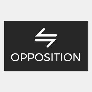 Pegatina de la oposición