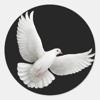 Pegatina de la paloma que vuela