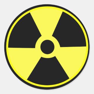 Pegatina de la radiación