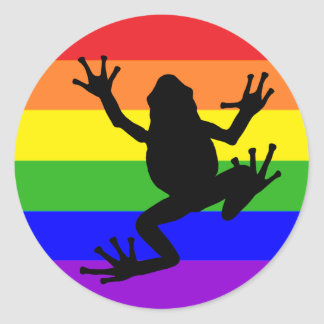 Pegatina de la rana del arco iris