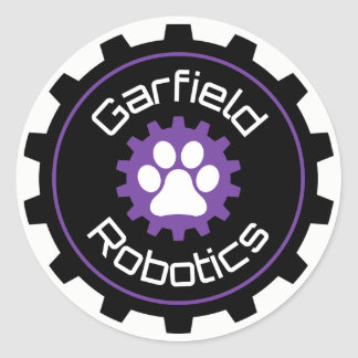 Pegatina de la robótica de Garfield