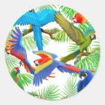 Pegatina de la selva del Macaw