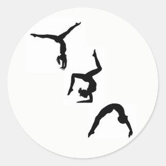 Pegatina de la silueta de la gimnasia