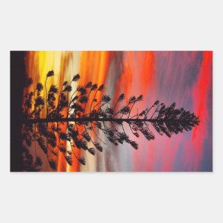 Pegatina de la silueta de la puesta del sol del