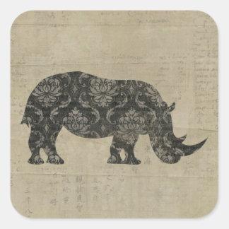Pegatina de la silueta de los rinocerontes