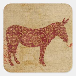Pegatina de la silueta del burro