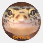 Pegatina de la sonrisa del Gecko del leopardo