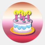 Pegatina de la torta de cumpleaños