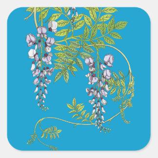Pegatina de la vid de la flor de las glicinias