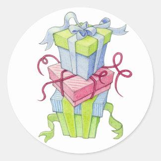 Pegatina de las cajas de regalo