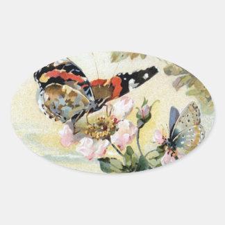 Pegatina de las flores de mariposa de la primavera