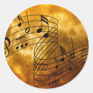 Pegatina de las notas musicales