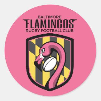 Pegatina de los flamencos de Baltimore (rosa)