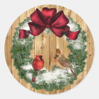 Pegatina de los pájaros del navidad del país