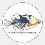 Pegatina de los pescados de Humuhumunukunukuapua'a