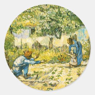 Pegatina de los primeros pasos de Van Gogh