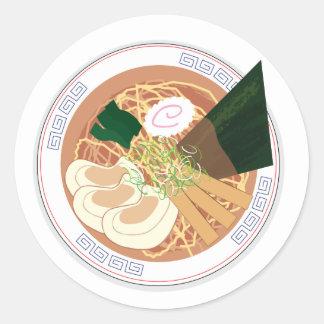 Pegatina de los Ramen, ronda, hoja de 20 (Tokio
