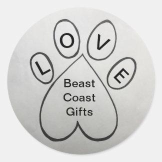 Pegatina de los regalos de la costa de la bestia
