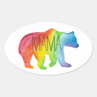 Pegatina de mamá Bear Watercolor Family Pride