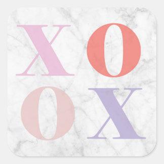 Pegatina de mármol de XOXO