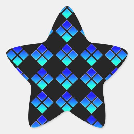 Pegatina de medianoche de la estrella del diamante