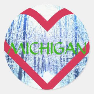 pegatina de Michigan del día de fiesta