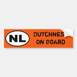 Pegatina de NL - Dutchness a bordo
