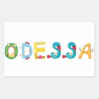 Pegatina de Odessa