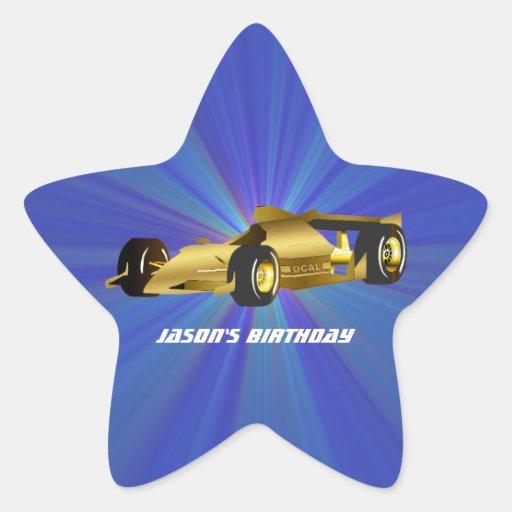 Pegatina de oro de la estrella del coche de
