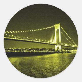 Pegatina de oro del puente