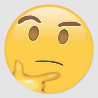 Pegatina de pensamiento de Emoji