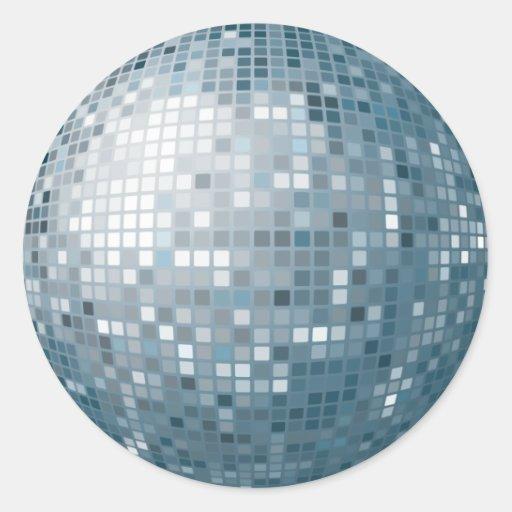 Pegatina de plata de la bola de discoteca zazzle - Bola de discoteca de colores ...