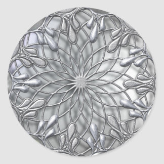 Pegatina de plata Jeweled lágrima