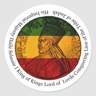 Pegatina de Rasta que conquista el león de Judah