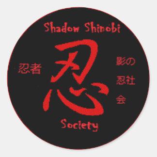 Pegatina de Shinobi de la sombra