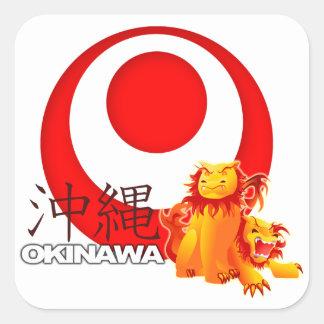 Pegatina de Shisa del Okinawan
