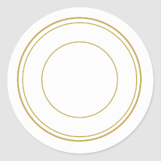 Pegatina decorativo redondo del círculo del oro