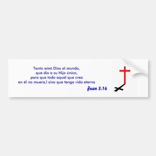 pegatina del 3:16 de juan etiqueta de parachoque