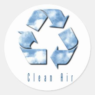 Pegatina del aire limpio