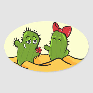 pegatina del amor de la flor del cactus