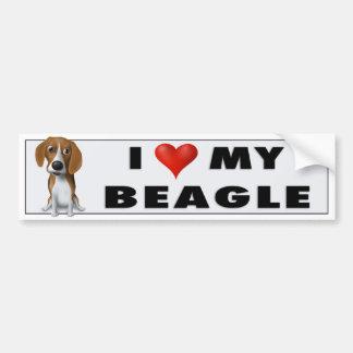 Pegatina del amor del beagle etiqueta de parachoque