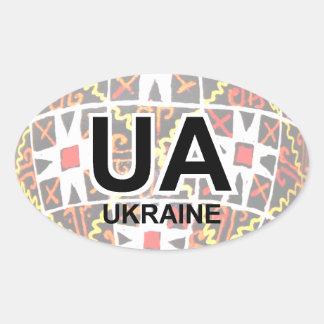 Pegatina del auto del huevo de Pascua del ucranian
