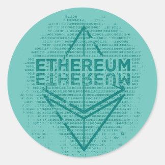 Pegatina del binario de Ethereum